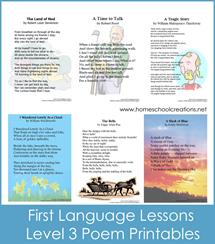 First Language Lessons 3 Poem Printables