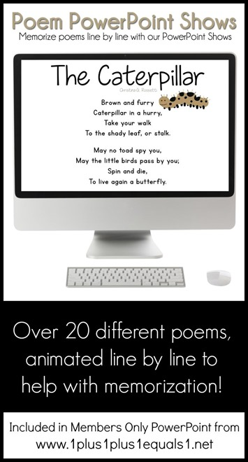 Poem PowerPoint Shows now in Members Only PowerPoint