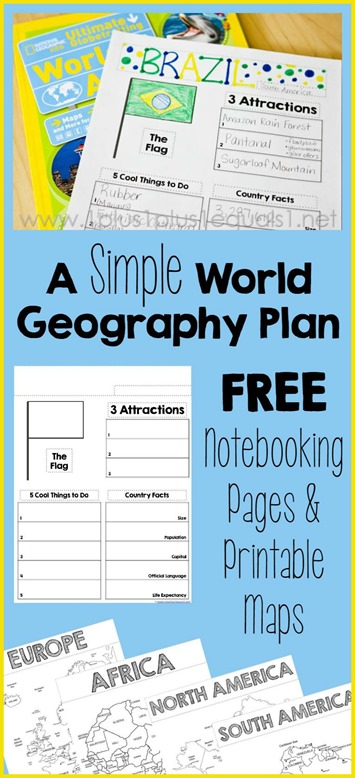 World Geography Printables Country Notebooking Pages and Printable Maps