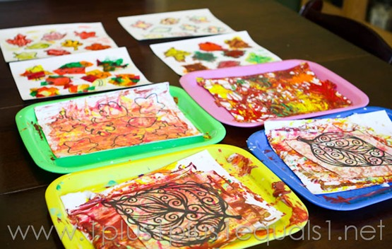 Fall Leaf Art Projects -9643