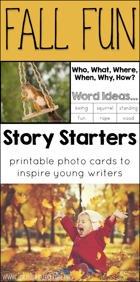 Free Fall Story Starter Photo Cards