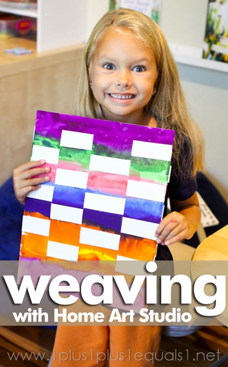 Home Art Studio 1st Grade Project ~ Weaving