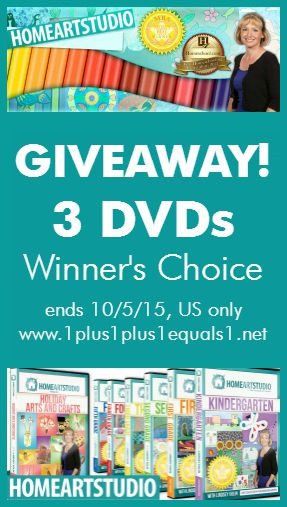 Home Art Studio Giveaway 3 DVDs Winner Choice ends 10.5.15
