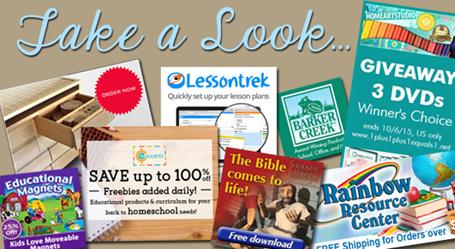 Homeschool Blog Sponsors Sept 2015