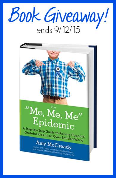 Me, Me, Me Epidemic Book Giveaway ends 9.12.15
