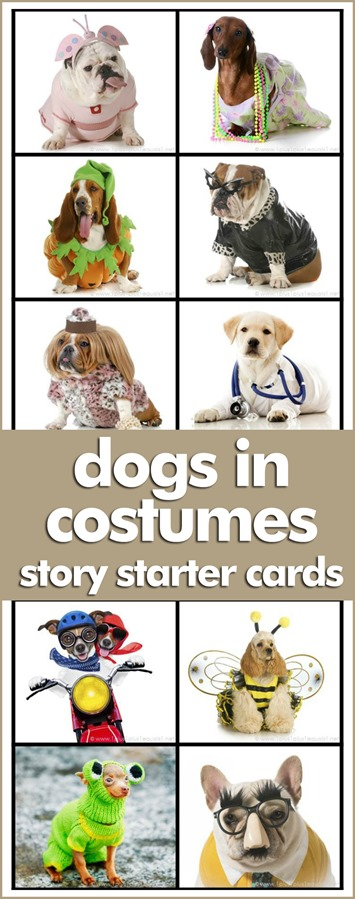 Dogs in Costumes Story Starter Cards