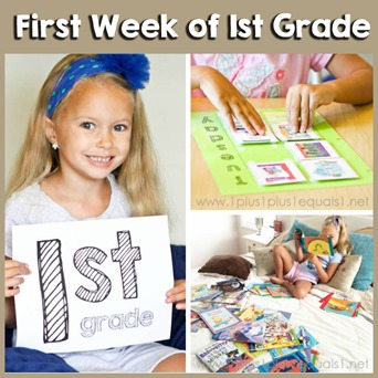 First Week of 1st Grade Homeschool FB