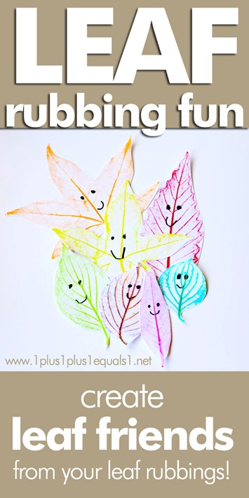Leaf Rubbing Craft ~ Make Leaf Friends with Leaf Rubbings
