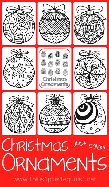 Christmas Ornaments Coloring 1 1 1 1