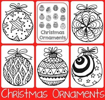 christmas ornaments coloring printables