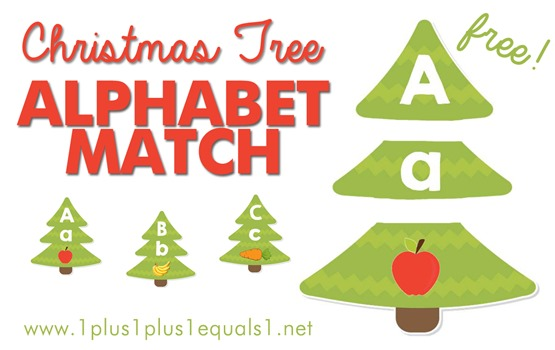 Christmas Tree Alphabet Match FB