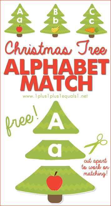 Christmas Tree Letter and Sound Match Printables  1111