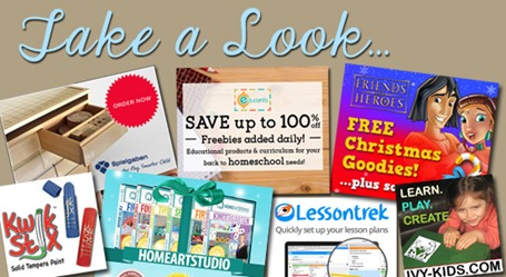 Homeschool Blog Sponsors November