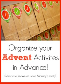 Organize Advent Activities in Advance