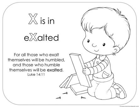 Bible Verse Printables Letter X 1 1 1=1