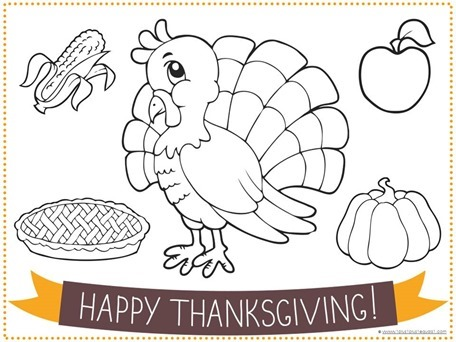 photo relating to Thanksgiving Placemats Printable identified as Printable Thanksgiving Placemats for Youngsters - 1+1+1\u003d1
