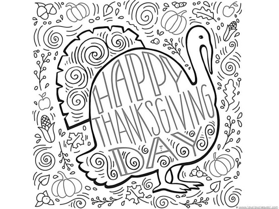 Thanskgiving Turkey Doodle Coloring Page We Have LOADS More Free