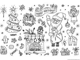 christmas doodle coloring 3 christmas doodle coloring 4