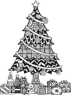 Christmas Doodle Coloring Pages 111 1