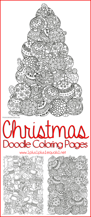 Christmas Doodle Coloring Pages 1111