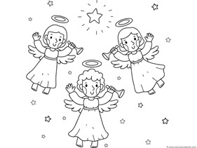 Christmas Nativity Coloring Pages 1