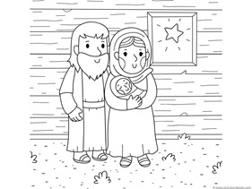 christmas nativity coloring 3 - Nativity Coloring Pages Printable