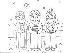 Christmas Nativity Coloring Pages 1111