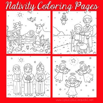 Christmas Nativity Coloring FB