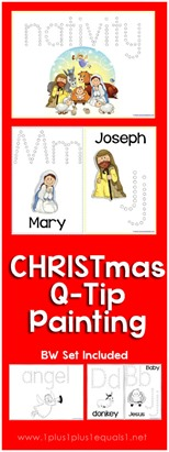 Christmas Nativity Q-Tip Painting
