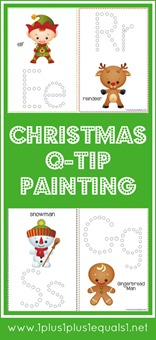 Christmas Q-Tip Painting Printables
