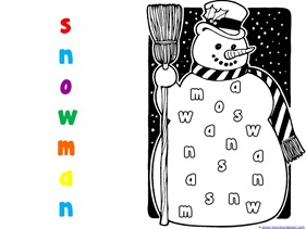Color by Letter Snowman
