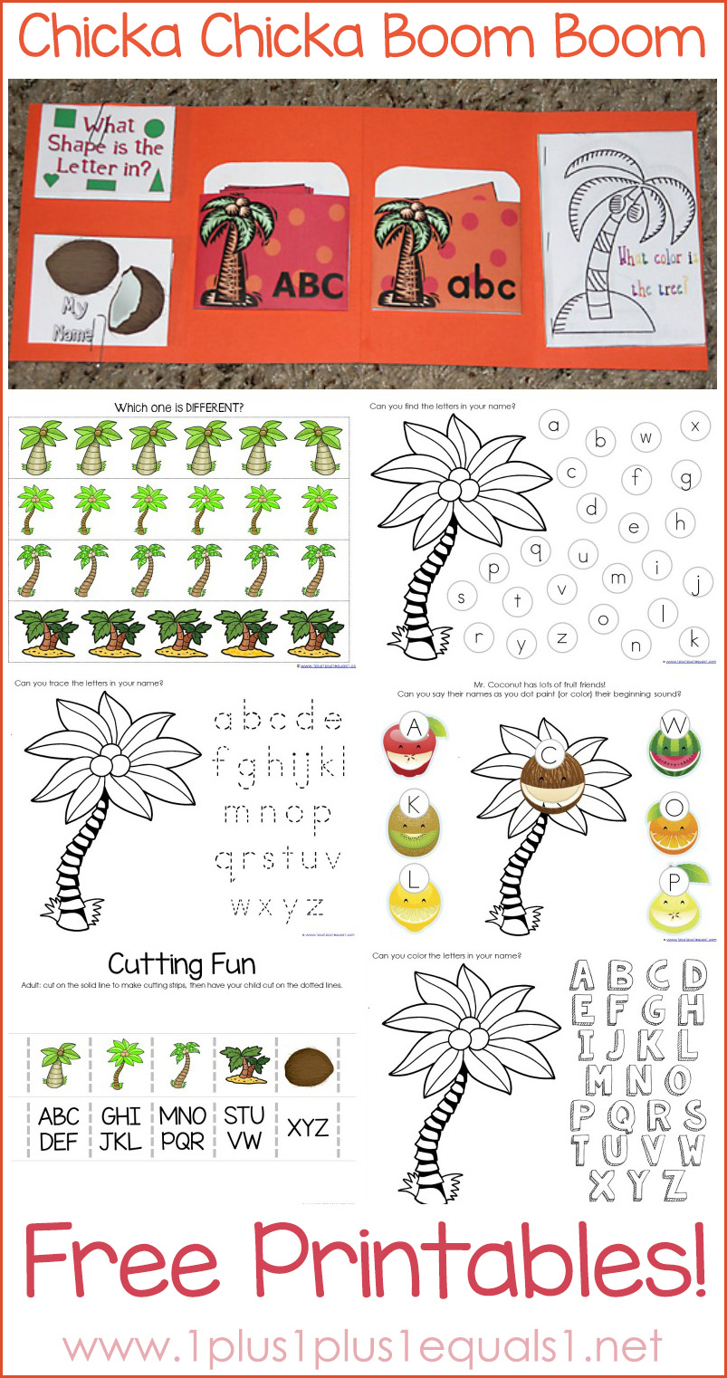 math worksheet : chicka chicka boom boom theme printables : Chicka Chicka Boom Boom Worksheets For Kindergarten