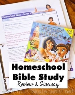 Friends and Heroes Homeschool Bible Study Review