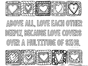 Love Bible Verse Coloring Pages 1 1 1 1