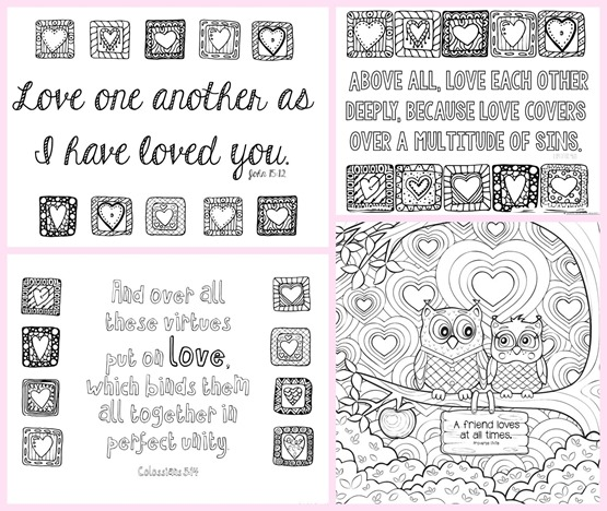 love bible verses coloring pages - photo#19