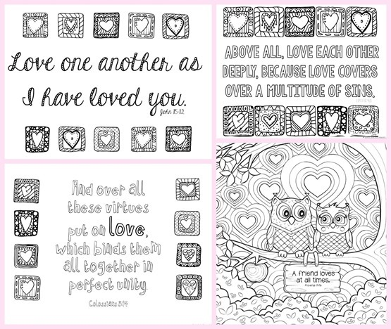 Love Bible Verse Coloring Pages1