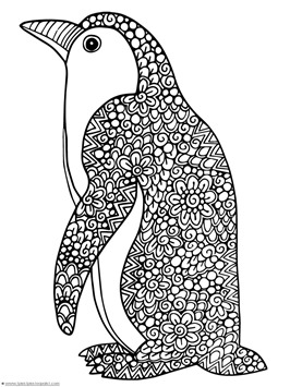 Penguin doodle coloring pages 1 1 1 1 for Penguin adult coloring pages