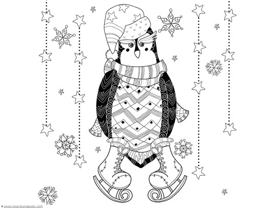 waddles the penguin coloring pages - photo #47
