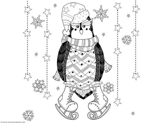 Penguin Doodle Coloring (2)