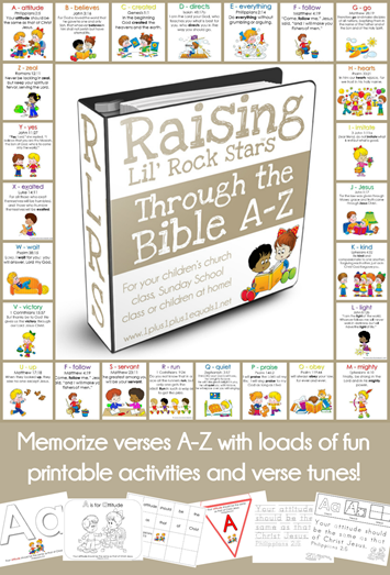 Raising Lil Rock Stars Through the Bible A to Z
