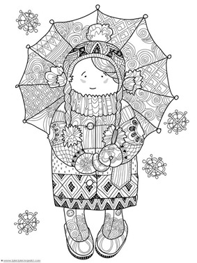 Winter Doodle Coloring