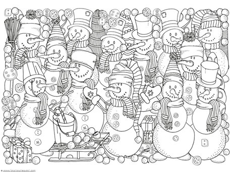 Winter Doodle Coloring Pages 1111