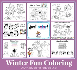 Winter Coloring Printables