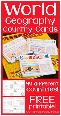 World Geography Country Printables Free Cards
