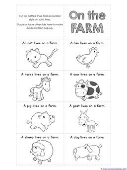 Accordion Book Printabls FARM