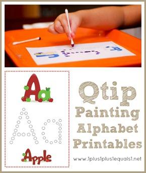 Q Tip Painting Alphabet Printables