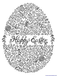 Easter Egg Coloring Happy