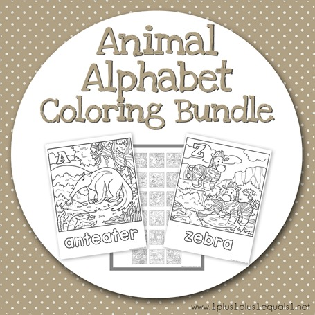 Teacher's Notebook Animal Alphabet Coloring Bundle