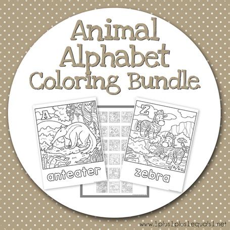 Teacher's Notebook Animal Alphabet Coloring Bundle