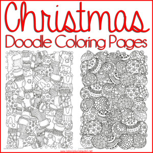 christmas doodle coloring pages fb